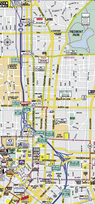 Atlanta midtown map